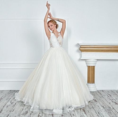 017105 A Line Wedding Dress