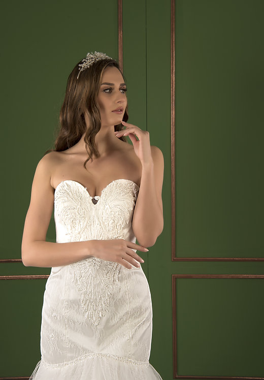 P21524 Mermaid Hand Beaded Wedding Dress