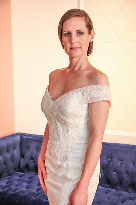 21005 Mermaid Hand Beaded Wedding Dress
