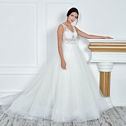017112 A Line Wedding Dress