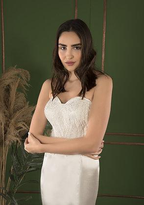 P21518 Trumpet Hand Beaded Wedding Dress