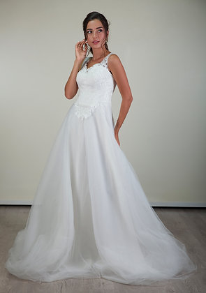 201112 A-Line Hand Beaded  Wedding Dress