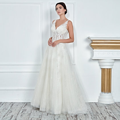 017129 A Line Wedding Dress