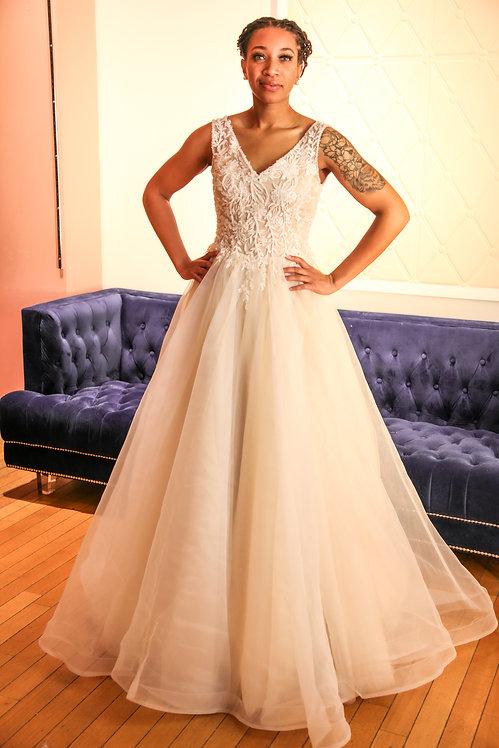 21011 A-Line Hand Beaded Wedding Dress