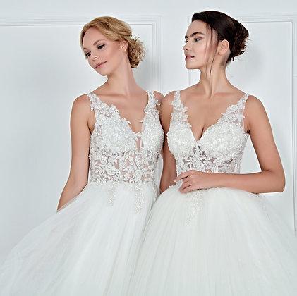 017102 A Line Wedding Dress