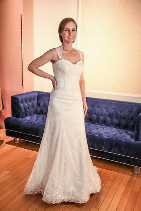 21006 Mermaid Hand Beaded Wedding Dress