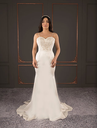 21103 Hand Beaded Wedding dress