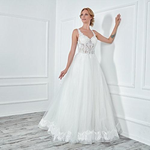 017131 A Line Wedding Dress