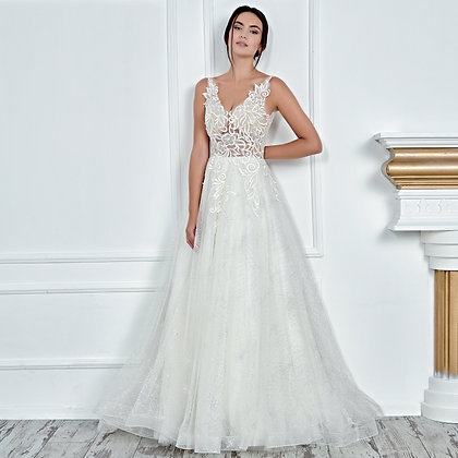 017118 A Line Wedding Dress