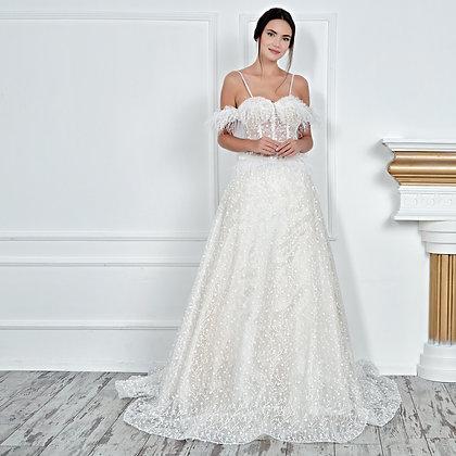017106 A Line Wedding Dress