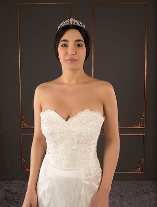 21093 Hand Beaded Wedding dress