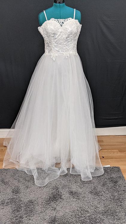 21560 A-Line Hand Beaded Plus Size Wedding Dress