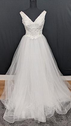 21607 A-Line Hand Beaded Wedding Dress