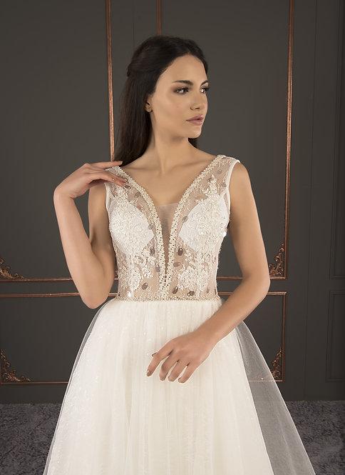 21034 Hand Beaded Wedding dress