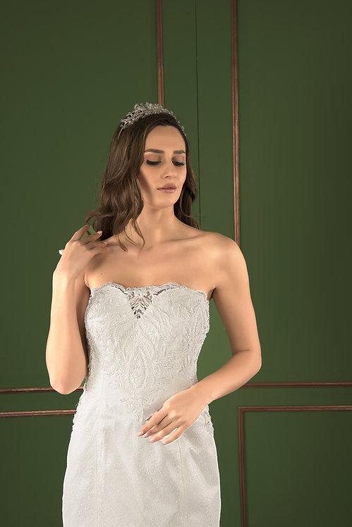 P21522 Mermaid Hand Beaded Wedding Dress