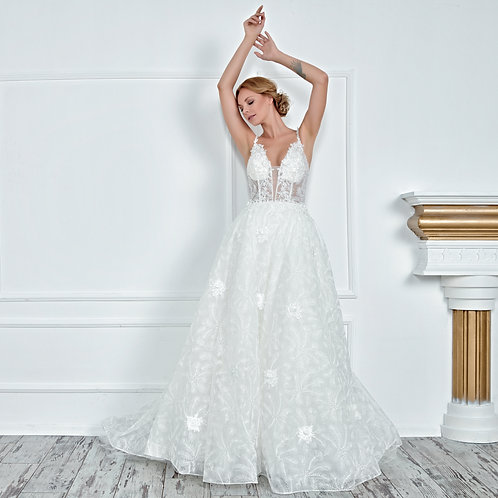 017117 A Line Wedding Dress