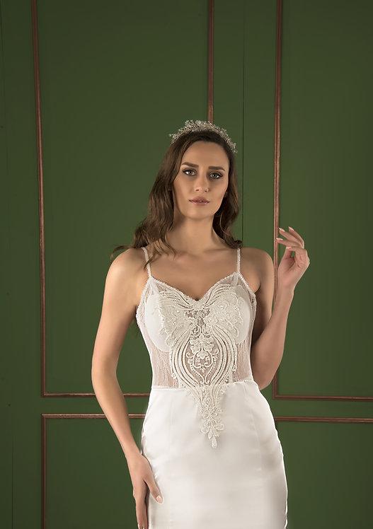 P21532 Trumpet Hand Beaded Wedding Dress