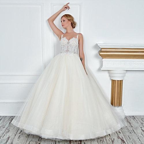 017116 A Line Wedding Dress