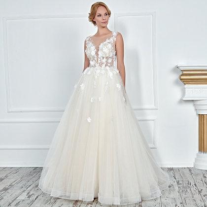 017104 A Line Wedding Dress