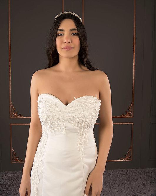 21056 Hand Beaded Wedding dress