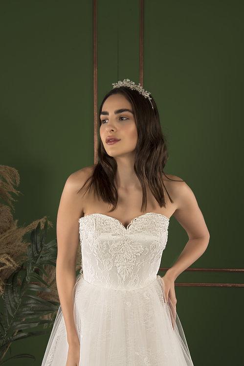 21505 A-Line Hand Beaded Wedding Dress