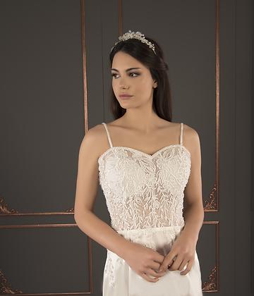 P21004 Trumpet Hand Beaded Wedding Dress