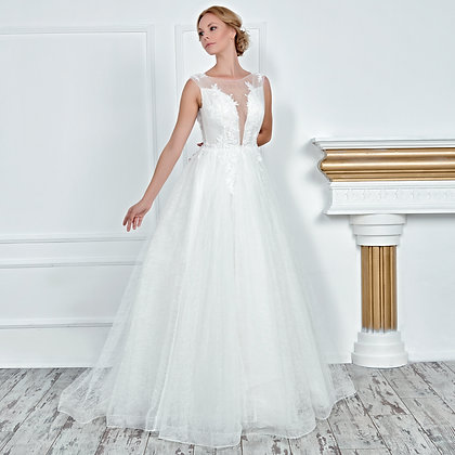 017109 A Line Wedding Dress