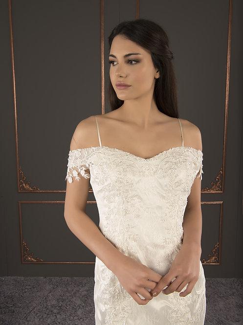 21005 Hand Beaded Wedding dress