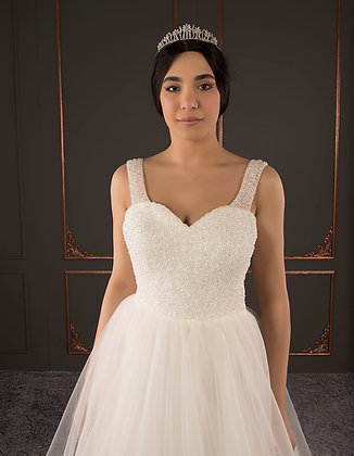 21092 Hand Beaded Wedding dress