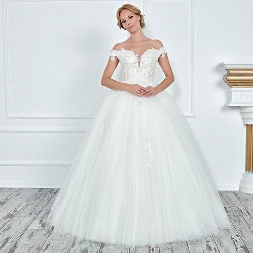 017128 A Line Wedding Dress