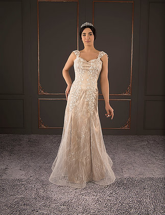 21008 Hand Beaded Wedding dress