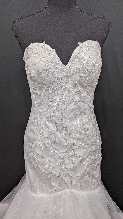 21521 Mermaid Hand Beaded Wedding Dress