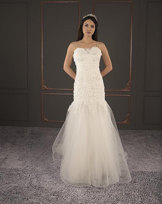 21084 Hand Beaded Wedding dress