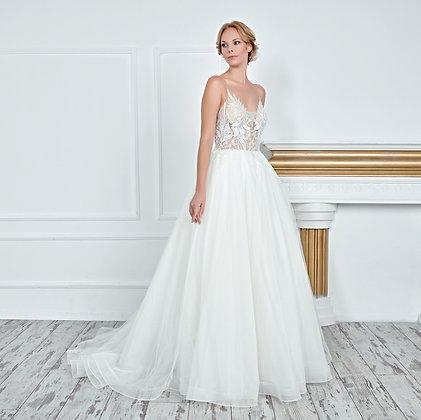 017101 A Line Wedding Dress
