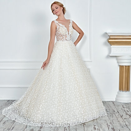 017111 A Line Wedding Dress