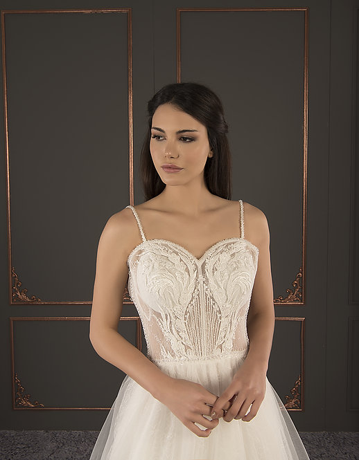 21017 Hand Beaded Wedding dress