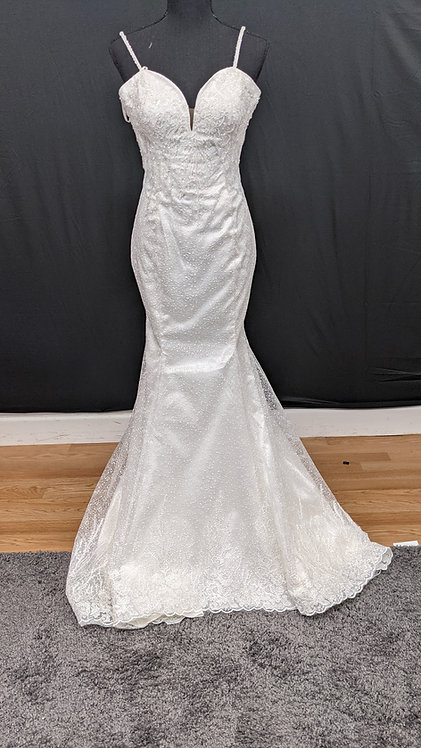 21818 Trumpet Hand Beaded Wedding Dress