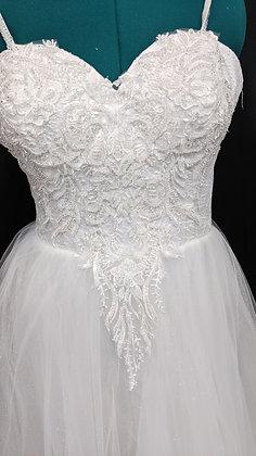 21546 A-Line Hand Beaded Plus Size Wedding Dress