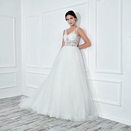 017133 A Line Wedding Dress