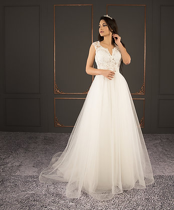 21020 Hand Beaded Wedding dress
