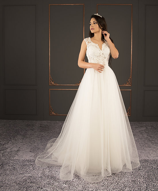 21020 Hand Beaded Wedding dress