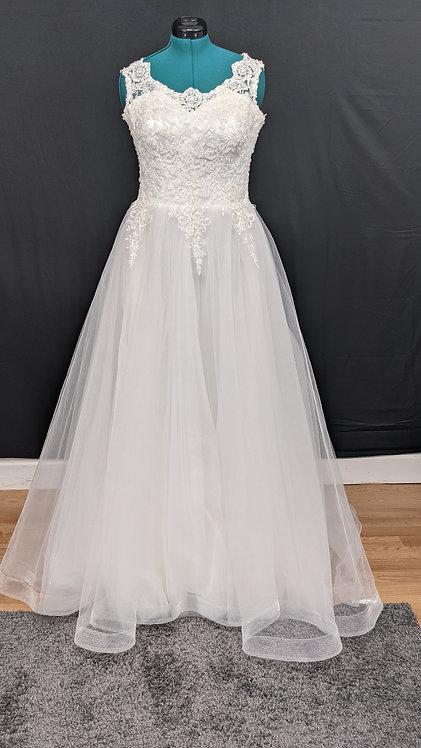 21211 A-Line Hand Beaded Plus Size Wedding Dress
