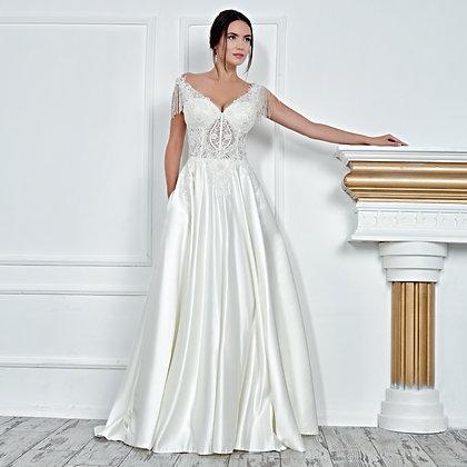 017119 A Line Wedding Dress