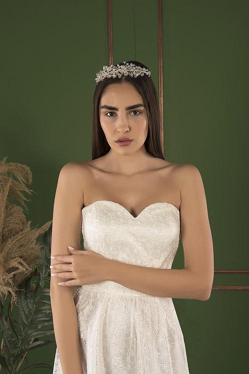 P21512 Sheath Hand Beaded Wedding Dress