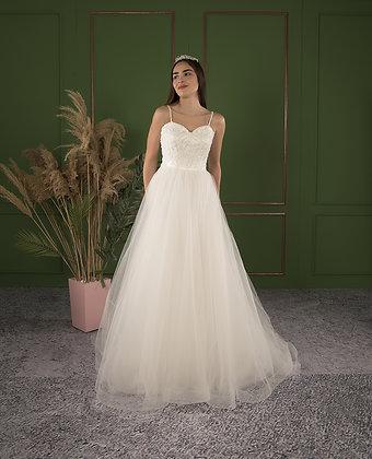 21511 A-Line Hand Beaded Wedding Dress