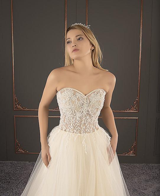 21085 Hand Beaded Wedding dress