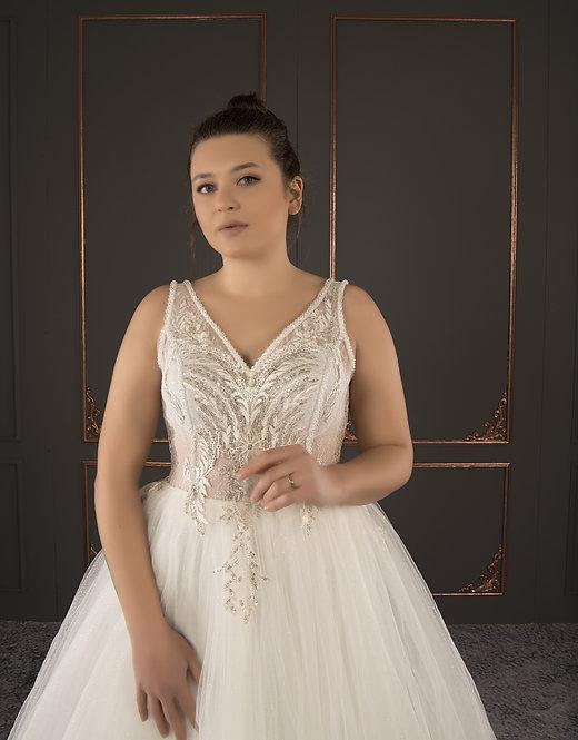 21046 Hand Beaded Wedding dress