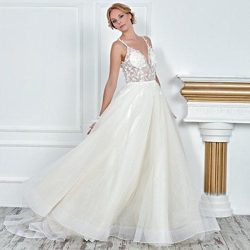 017107 A Line Wedding Dress