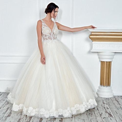 017123 A Line Wedding Dress