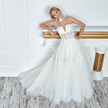 017122 A Line Wedding Dress